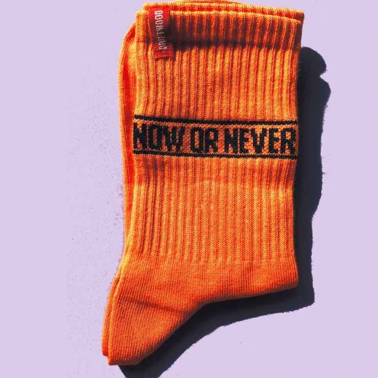 Носки NEON ORANGE Now Or Never