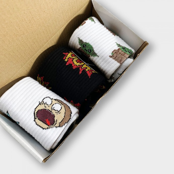 """""""Cartoon Box"""" Подарочный набор из 3 пар носков"""